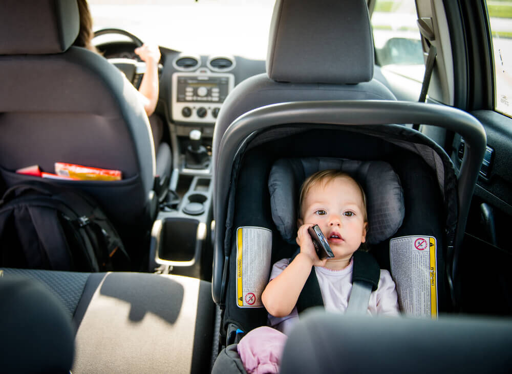 Infant in Rear Facing Car Seat